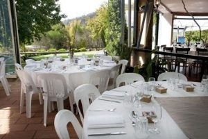 Wedding Reception Overlooking Vineyard